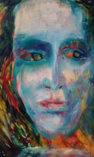 Mental. Oil on canvas. By Cat Jones. (SOLD)
