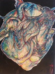 """Heartsick"" 36 x 48 Oil on canvas By Cat Jones"