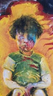 Aleppo Boy no. 3. Oil on canvas. By Cat Jones.